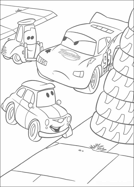 Disegni da colorare di sergio cars for Disegni staccati di 2 box auto