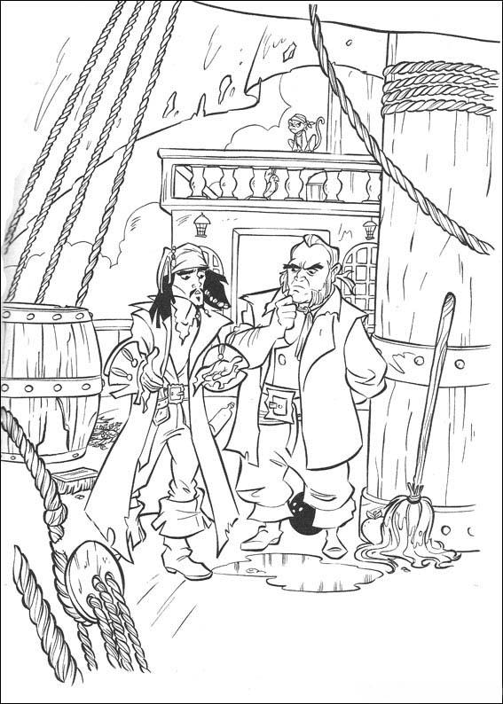 disegni da colorare di sergio pirati dei caraibi